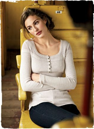 78615d1e6e Pima Cotton Sophia Henley