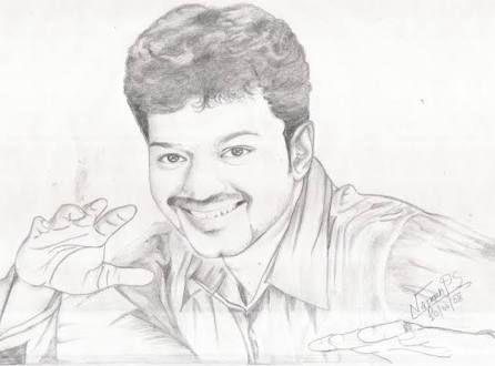 Actor Vijay drawing | Celebrity drawings, Sketches, Drawings
