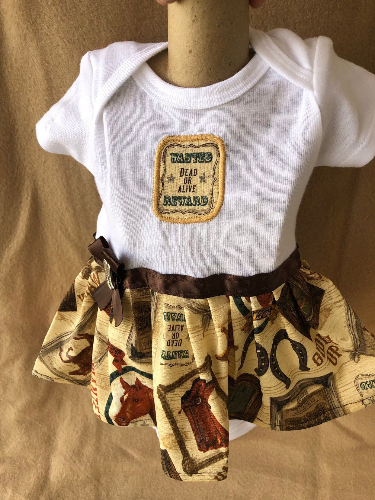 251dfc01f Excited to share the latest addition to my #etsy shop: 0-3 month girls  onesie dress / girls cowgirl onesie dresses / cowgirl onesies / country girl  onesies ...