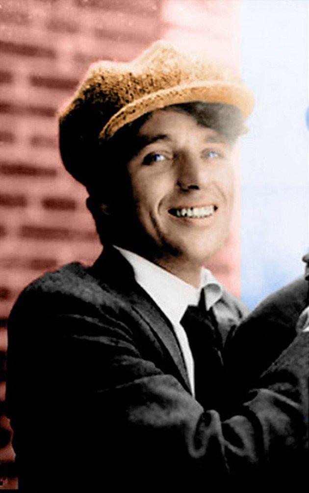 Chaplin color charlie eye Charlie Chaplin