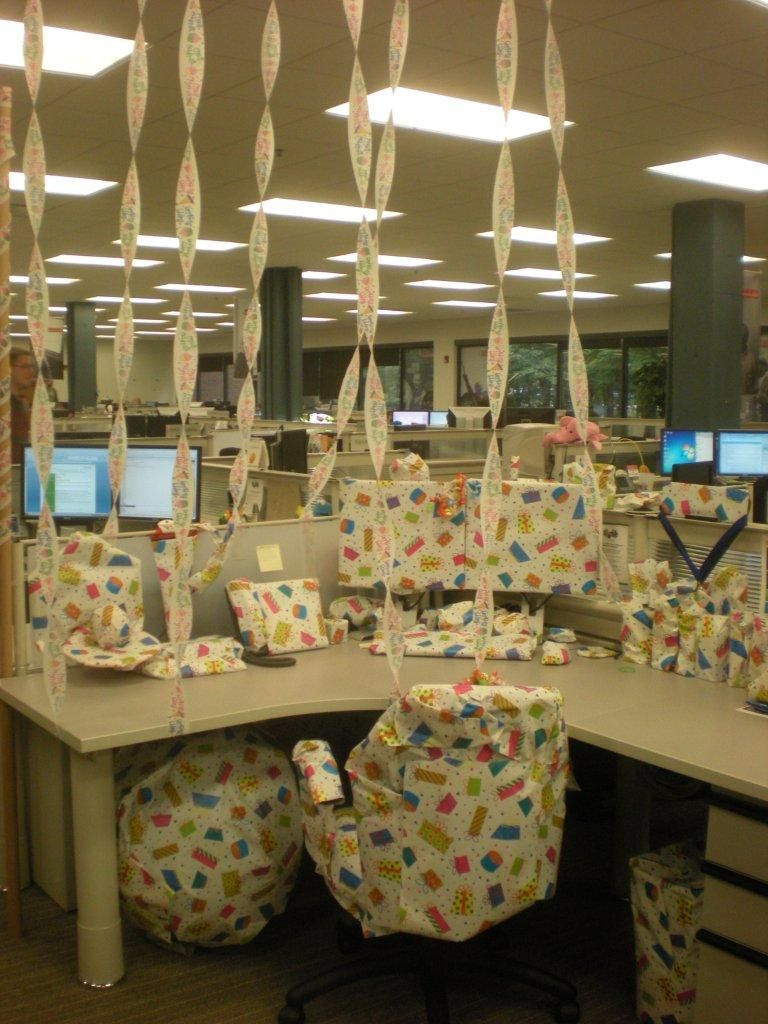 Cubicle Decorations For Birthday Just As The Title Implies This Cube Was Transformed Into A