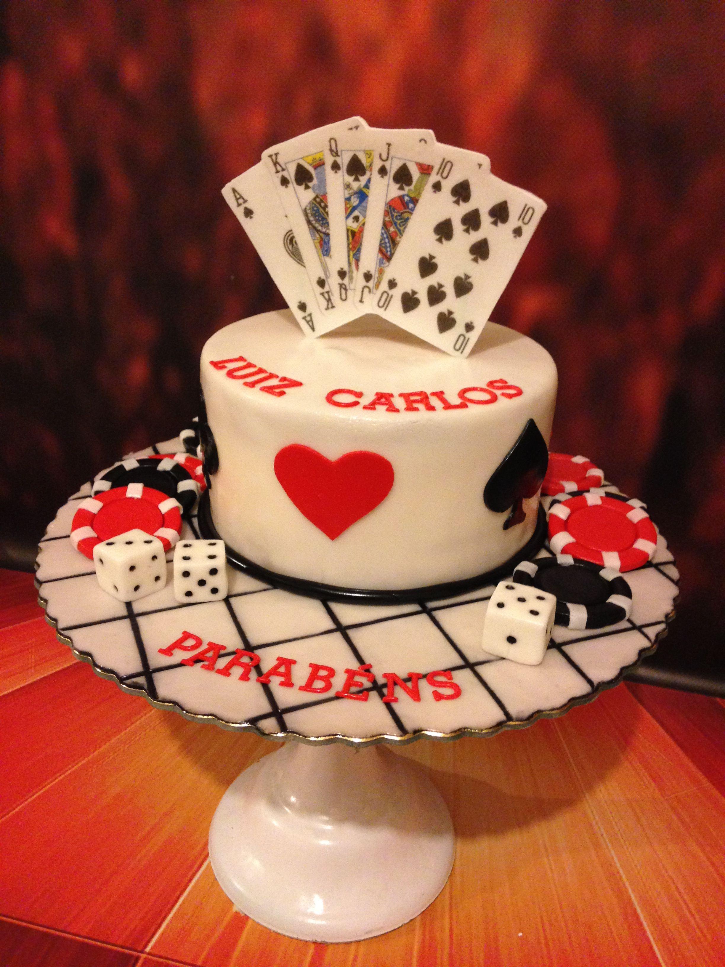 Dad s birthday 😀❤👏🏼playing cards cake casino cake poker cake