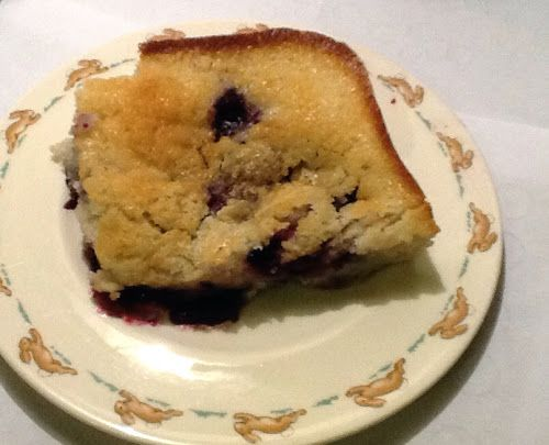Texas Blueberry Cobbler (Cake), updated