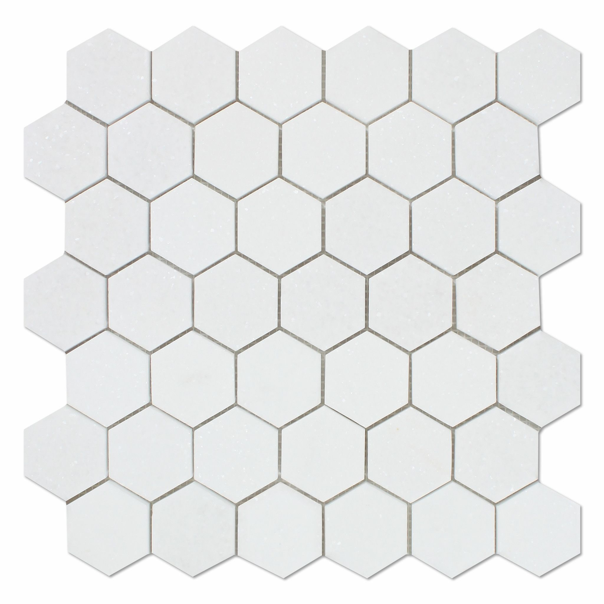 Thassos White Marble Polished 2 Quot Hexagon Mosaic Tile