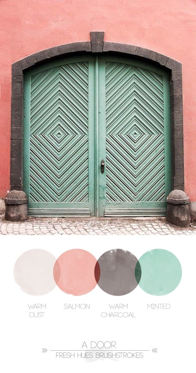 The Lines On The Door Really Draw The Eye To Four Different Center Points Of The Door This Image Expresses How Lines Can Grea With Images Doors Beautiful Doors Door Color