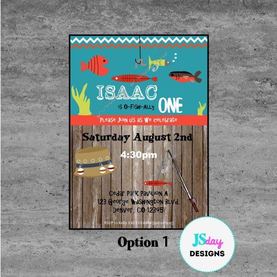 Fishing Birthday Invite First Bucket Hat Fish Invitation Under The Sea Worm Bait Bo