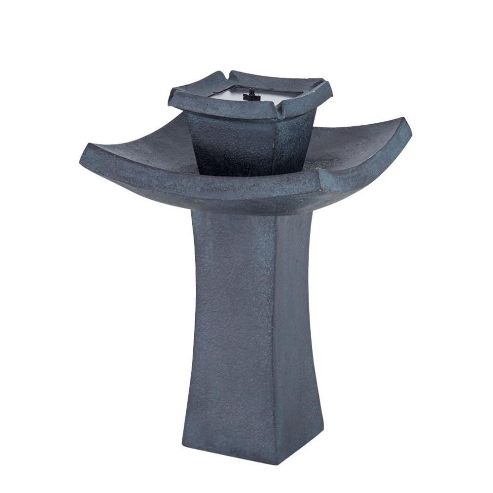 Mahayana 2-Tier Solar-On-Demand Fountain, Bronze/Copper Metallic ...