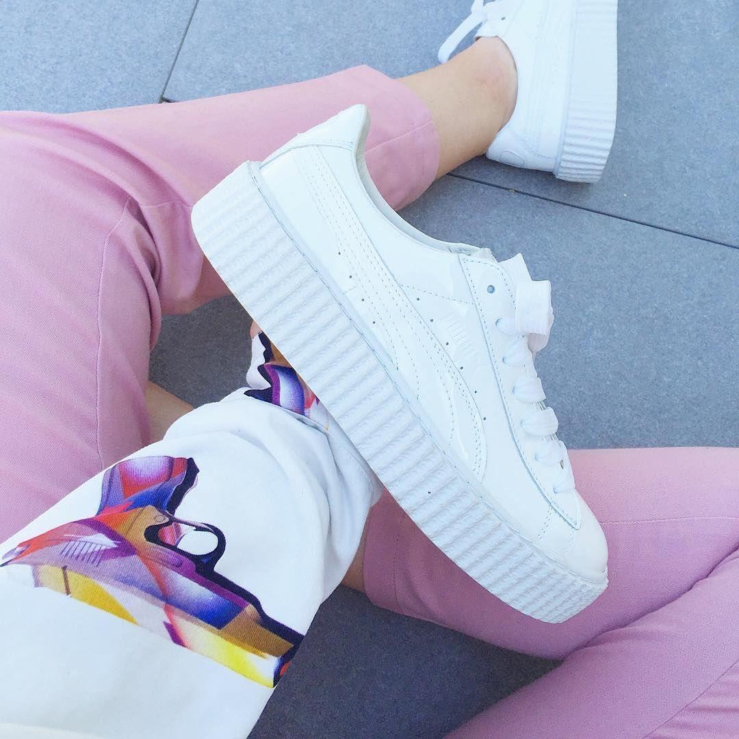 sneakers femme puma blanche