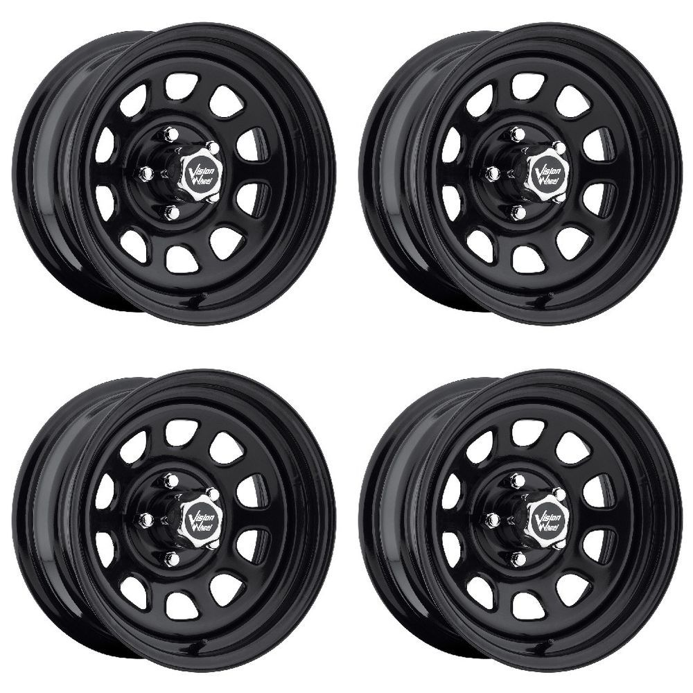 Set 4 16 Vision 84 D Window Black Wheels 16x8 5x5 5 12mm Dodge Ram 1500 5 Lug Ebay Black Wheels Chrome Wheels Black Steel Wheels