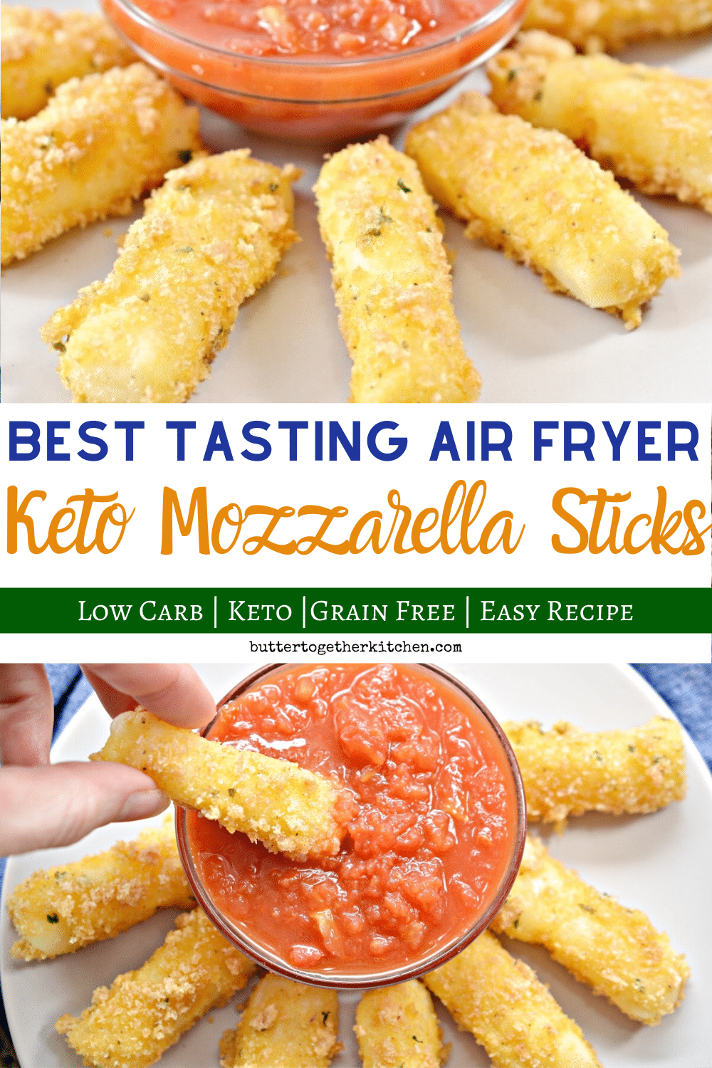 Keto Air Fryer Recipes Mozzarella Sticks