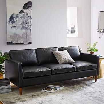 Hamilton Leather Sofa Black Leather Sofa Living Room Black