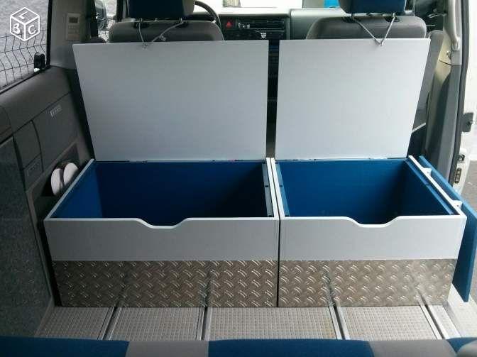 Exceptionnel Amenagement, meuble, coffre, tiroir vw multivan t4 … | Pinteres… FV25