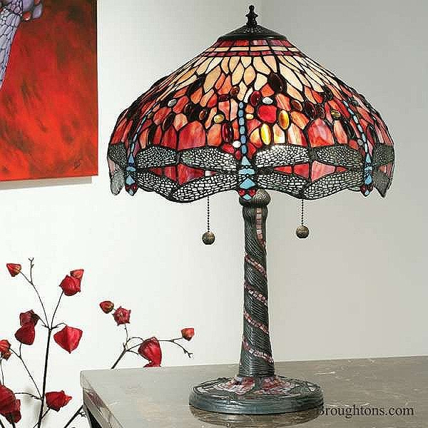 Interiors 1900 red dragonfly tiffany table lamp tiffany table interiors 1900 red dragonfly tiffany table lamp aloadofball Images