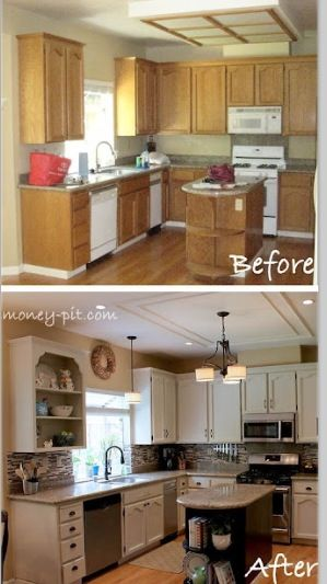 possibilities for a 90s kitchen  i like this before and after comparison  possibilities for a 90s kitchen  i like this before and after      rh   pinterest com