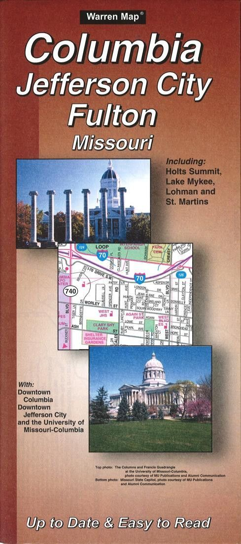 Columbia Jefferson City and Fulton Missouri by The Seeger Map