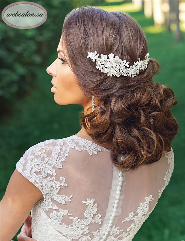 25 Incredibly Eye-catching Long Hairstyles for Wedding   Wedding ...