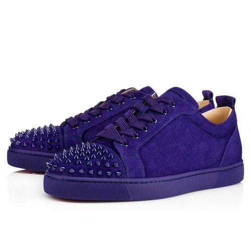 b0f6d3117a5 Louis Junior Spikes Men s Flat - Red Bottom Christian Louboutin Shoes