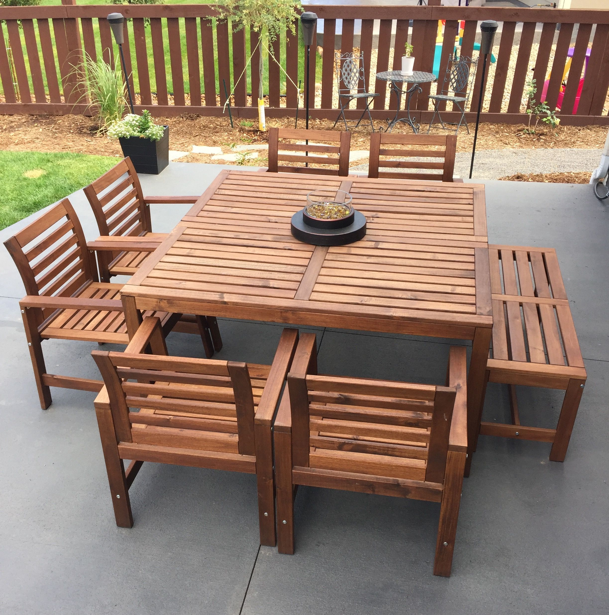 ikea table and chairs center fire piece from lowes fits in any