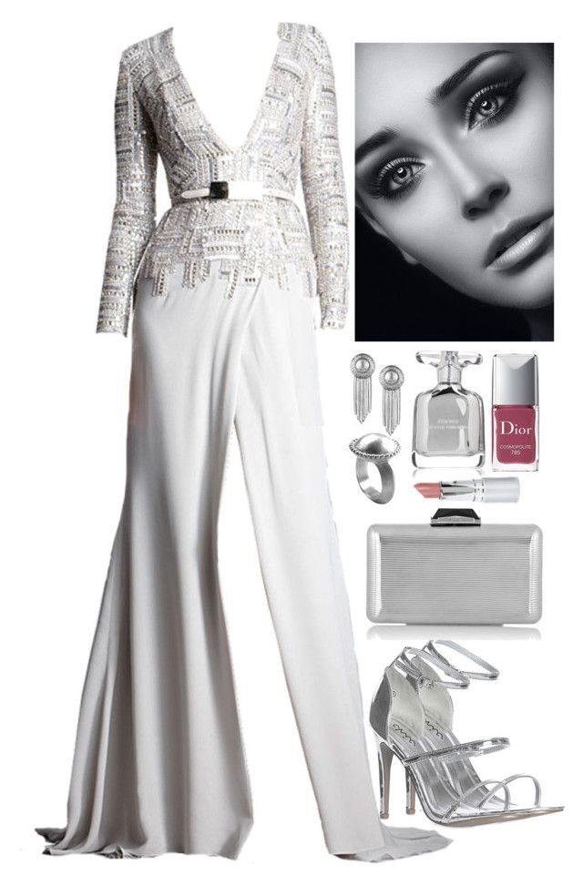 """""""Untitled #2914"""" by natalyasidunova ❤ liked on Polyvore featuring Elie Saab, Glamorous, KOTUR, Sam Edelman, Chen Fuchs Jewelry, Christian Dior, Narciso Rodriguez and HoneyBee Gardens"""