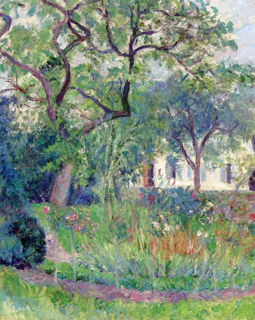 Claude garden at giverny by blanche