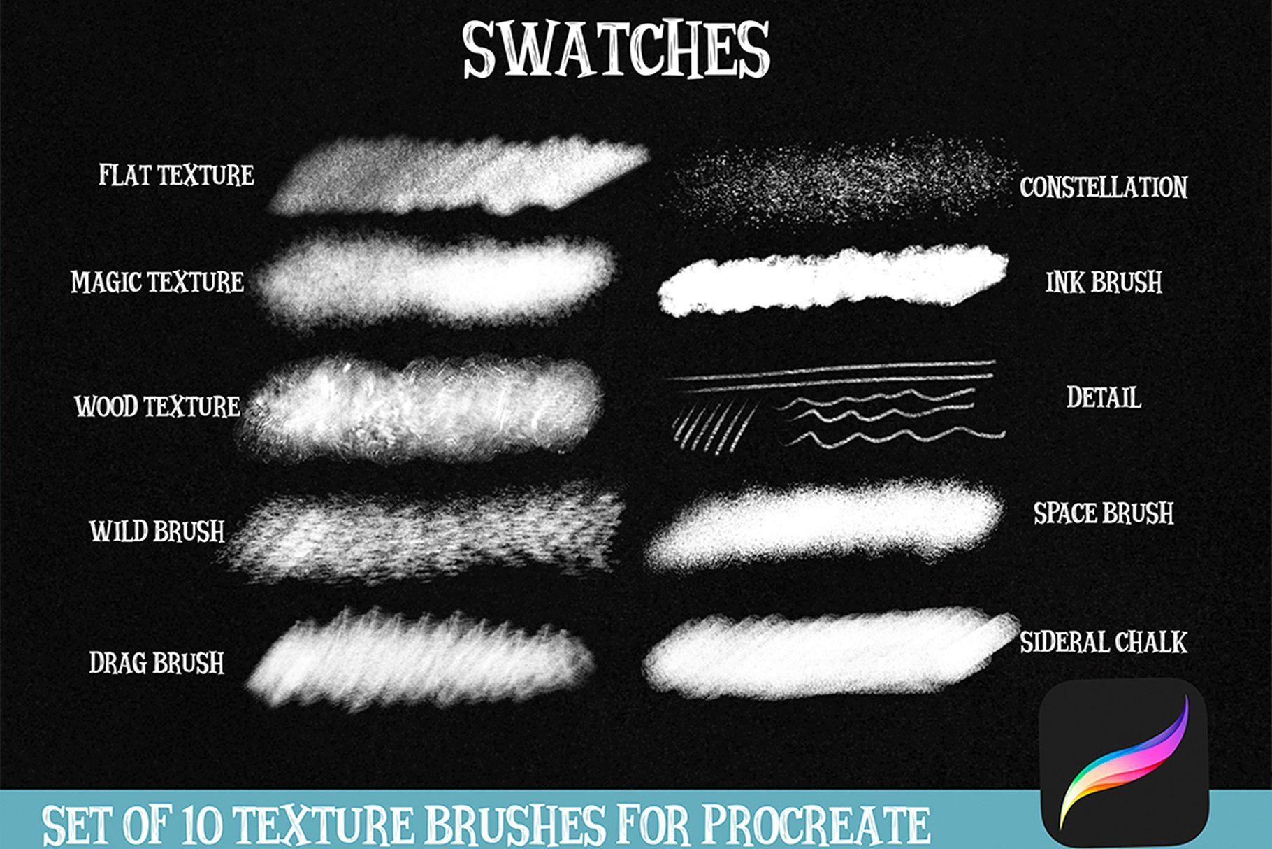 Procreate Texture Brushes Box Ink Brush Brush Procreate
