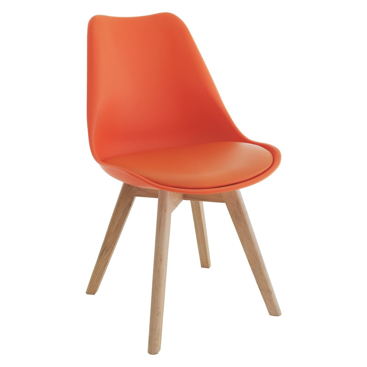 Orange Kitchen Table And Chairs: JERRY Orange Dining Chair With Solid Oak Legs In 2019