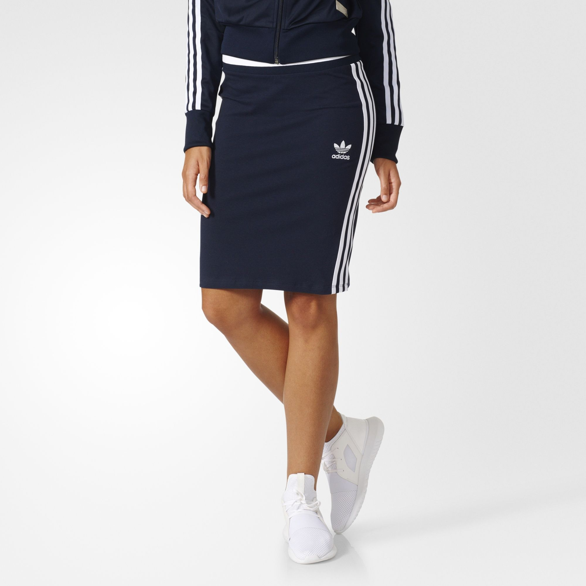 7cdf6394486 adidas - 3-Stripes Midi Skirt | My Style | Skirts, Fitted skirt ...