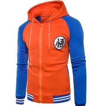 Cartoon Dragon Ball Z Goku Hoodie Sweatshirt Men Casual Slim Fit Zippe Dresslliy Mens Jackets Casual Jackets Men Fashion Hooded Baseball Jacket
