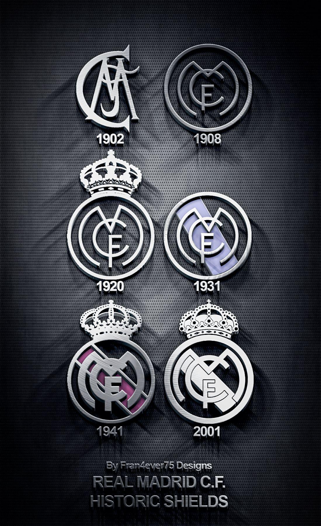 Real Madrid Historics Shields | Real Madrid | Real madrid ...