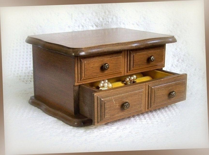 AVON Vintage Jewelry Box wooden jewelry box Decorators Jewelry