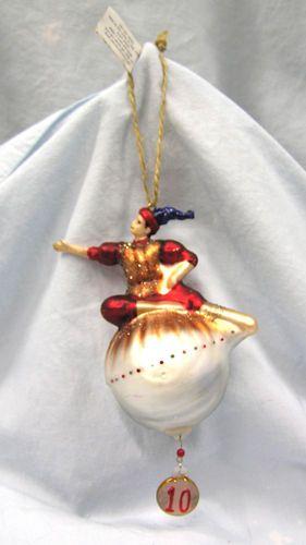 Pottery Barn Days of Christmas Resin Glitter Glass ...