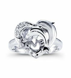 dolphin engagement and wedding rings engagement rings depot - Dolphin Wedding Rings