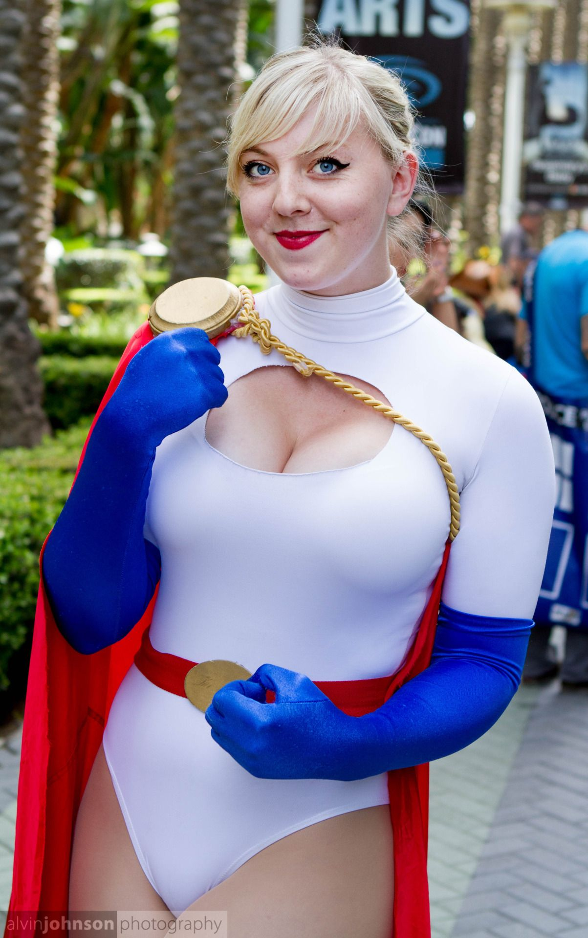 Power girl tied up tits