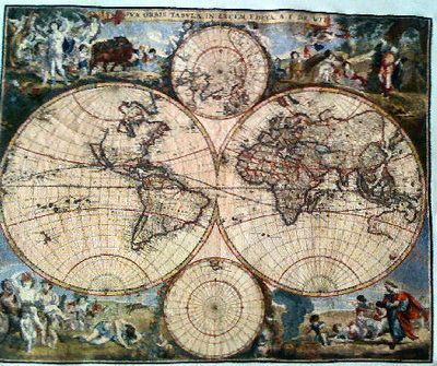 Old world map cross stiches and gobelin pinterest cross stitch old world map gumiabroncs Gallery