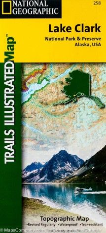 Trail Map Of Lake Clark National Park And Preserve Alaska 258 National Geographic Map Lake Clark National Park And Preserve Lake Clark National Parks