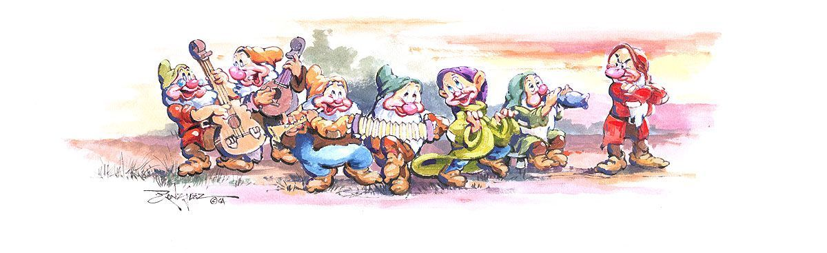 Love this Seven Dwarfs painting