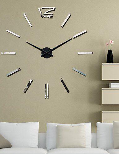 Modern Wanduhr 39 w diy 3d spiegel großer acryl aufkleber wanduhren modern
