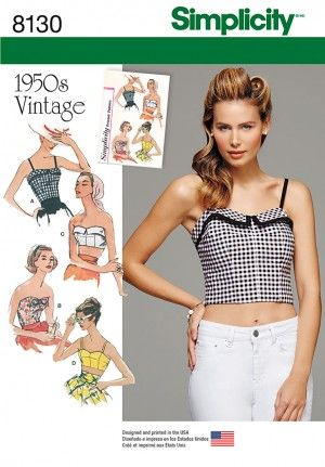1950s style bustier tops - been looking for this pattern for years ...