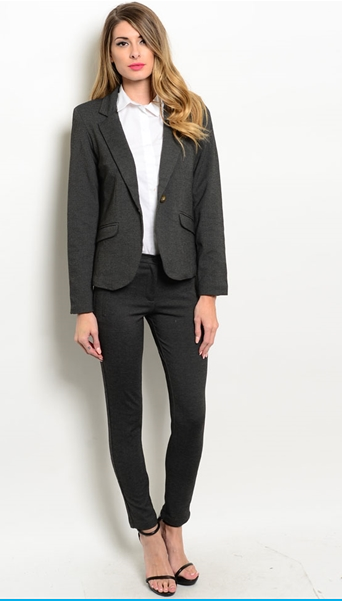 Women's Charcoal Gray Suit | My Style | Pinterest | Beautiful ...