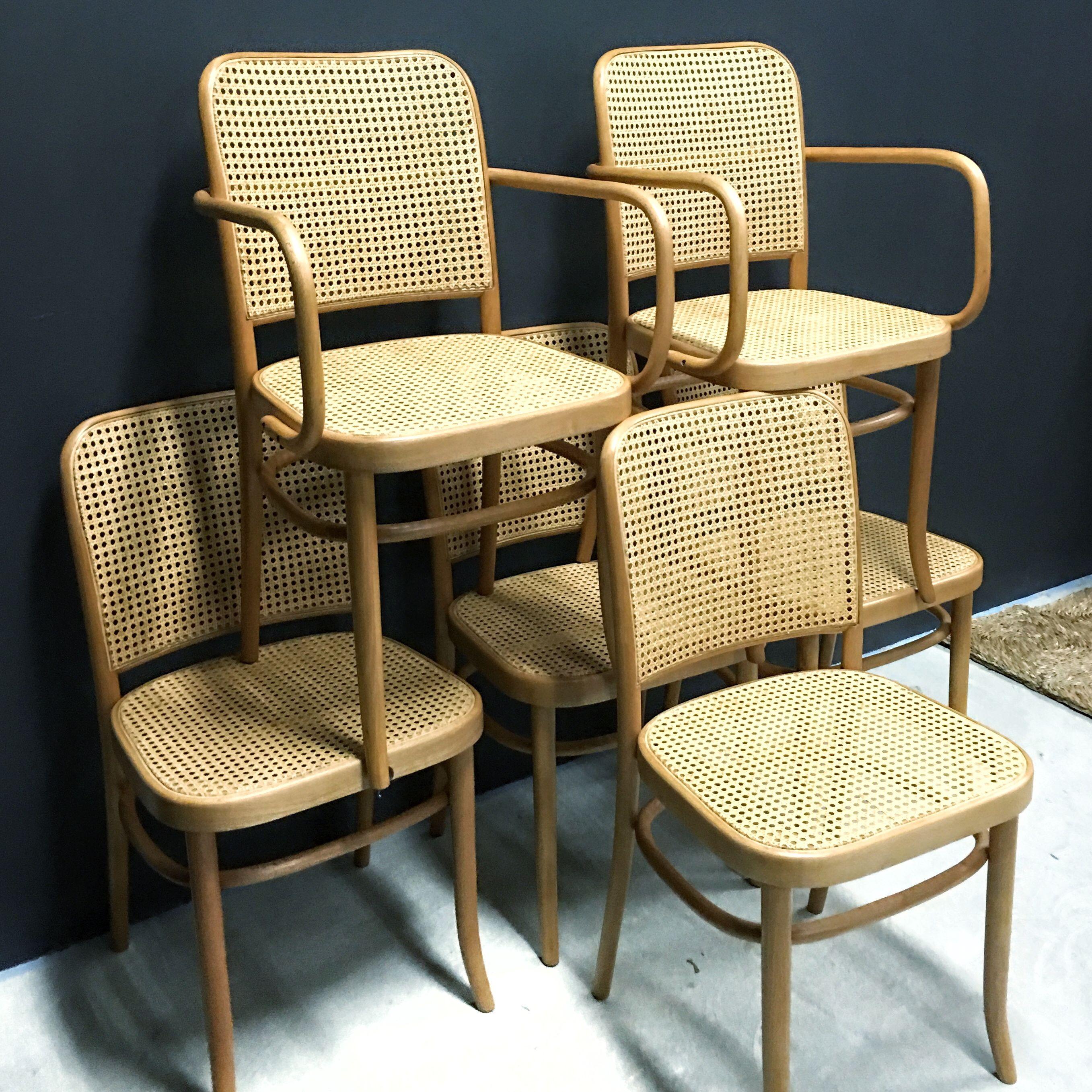 Astonishing Set Of 6 Vintage Fully Restored Josef Hoffmann Prague No Ocoug Best Dining Table And Chair Ideas Images Ocougorg