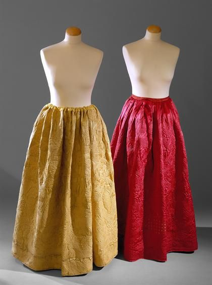 Quilted petticoats c. 1770
