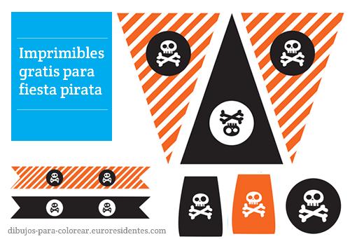 Imprimibles para fiesta pirata. Puedes descargarlos gratis en : http://dibujos-para-colorear.euroresidentes.com/2013/04/imprimibles-para-fiesta-pirata.html