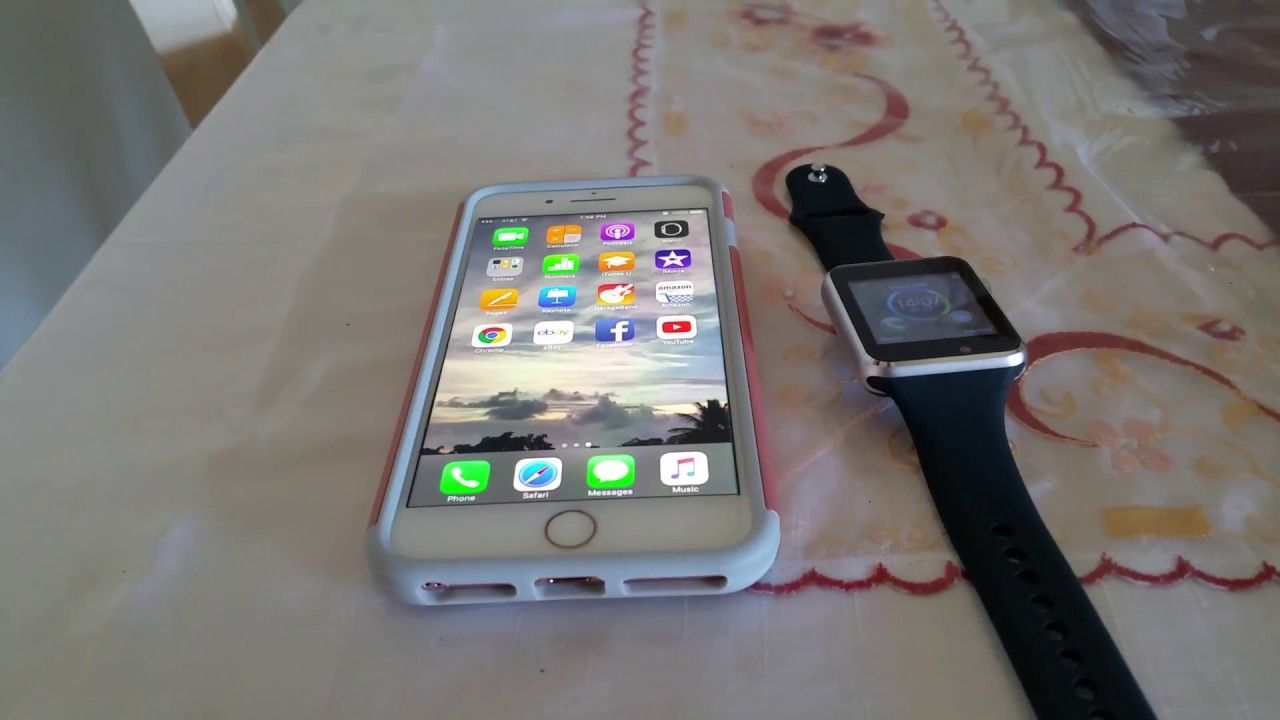 buy popular 3d7aa 20e95 How to pair Fake Apple Smartwatch to Iphone 7 plus ⌚ | Smart Watch ...