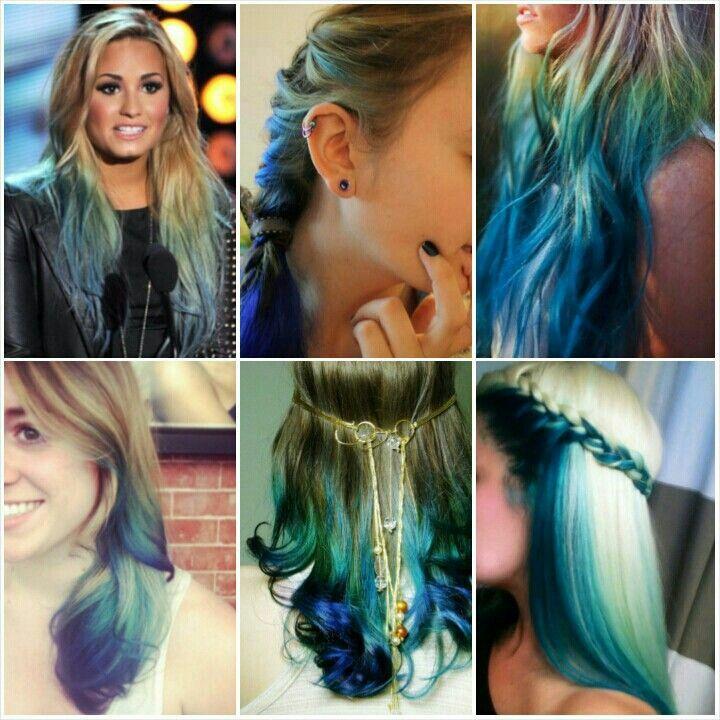 Blue Highlights Blonde And Blue Hair Anna Hair Dying Hair