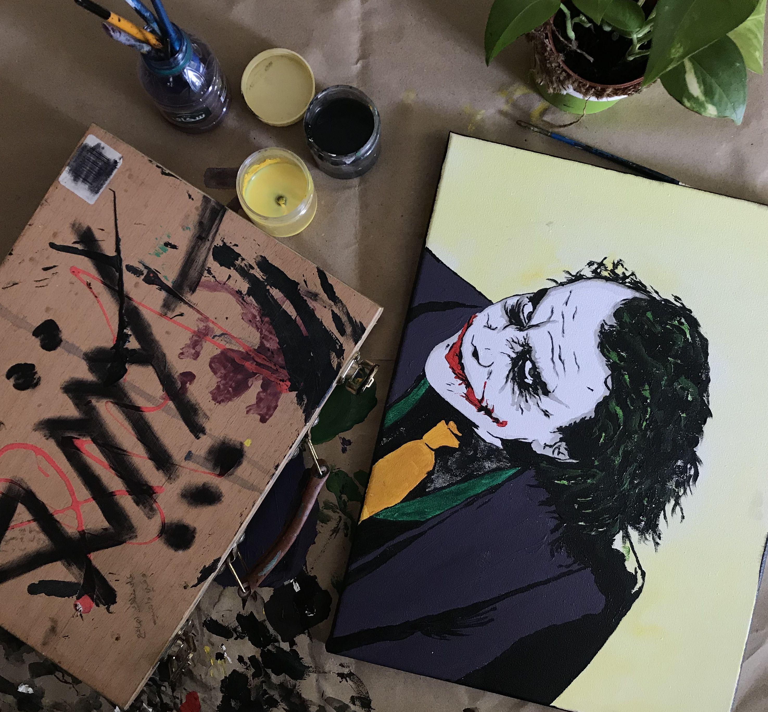 رسمتي للجوكر الجوكر رسم فن Art Pop Art Drawings