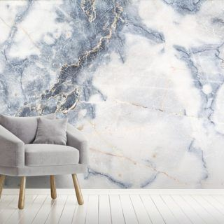 White Marble Wall Mural | Wallsauce US