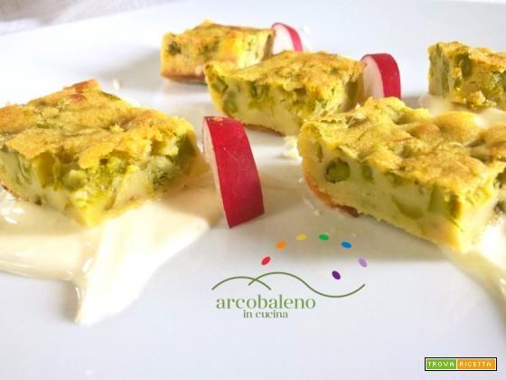 Finta frittata al forno con farina di Ceci e Asparagi #ricette #food #recipes