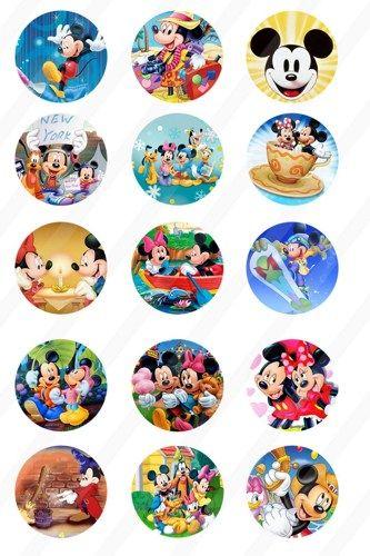 """30 Precut 1/"""" Princesses Bottle cap Image Set 2"""