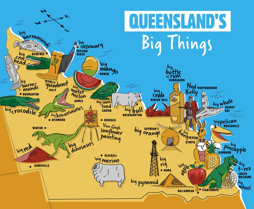 A bucket list of Queenslands big things from the Gold Coast to the