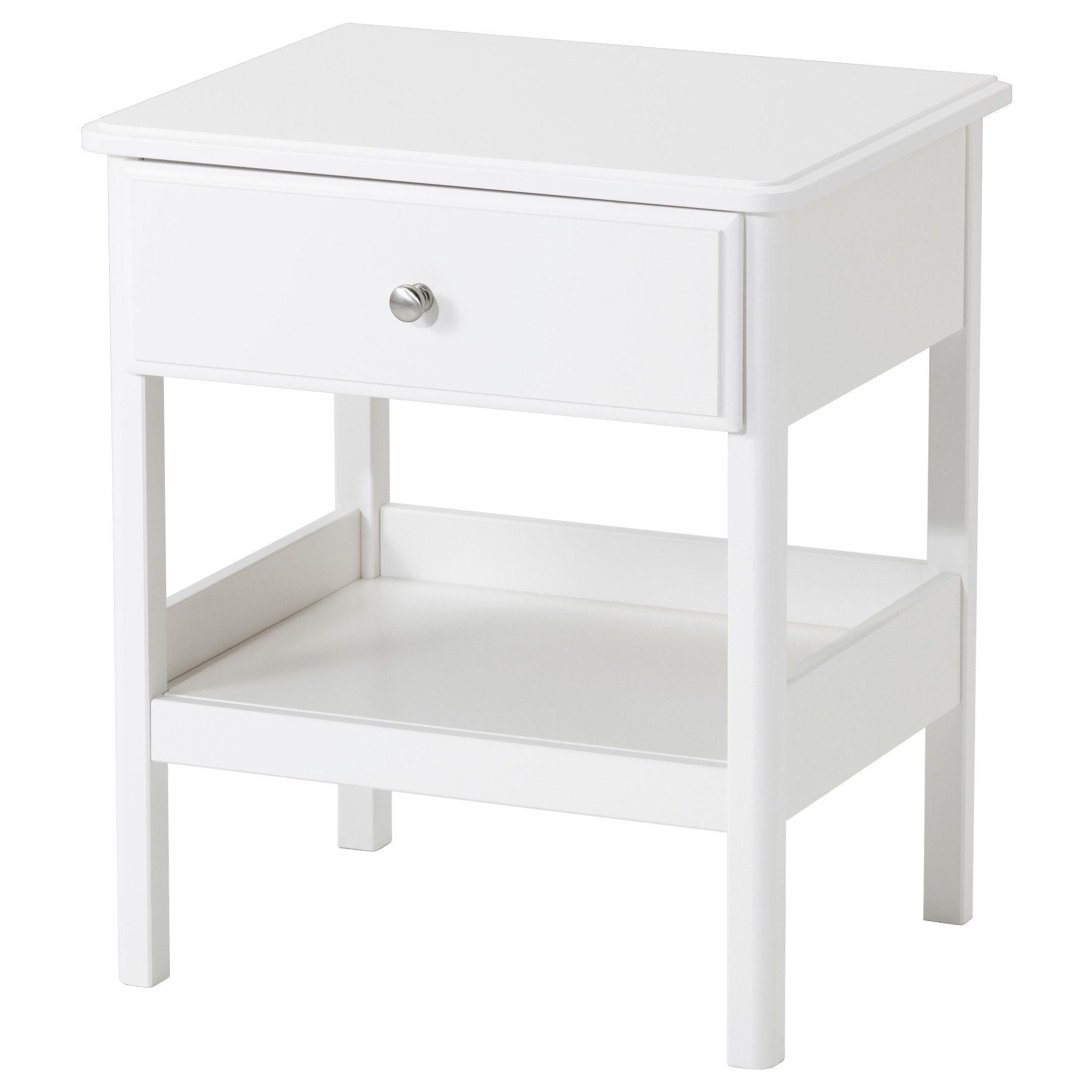 Tyssedal Nightstand White Ikea Ikea Nightstand Ikea Bedroom Ikea